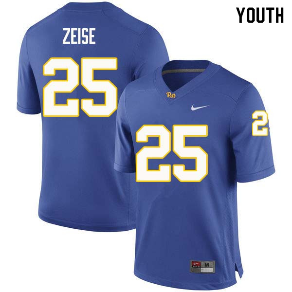 Youth #25 Elijah Zeise Pittsburgh Panthers College Football Jerseys Sale-Royal